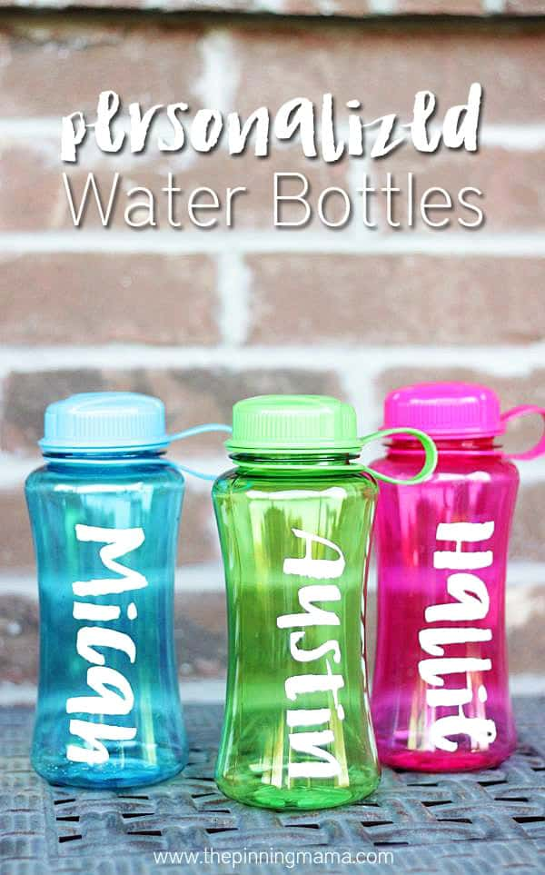 Personalize everything! Love these easy personalized water bottles!!