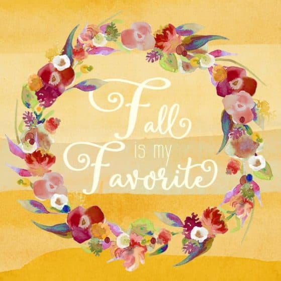 Free Printable - Watercolor Fall print. This will be perfect seasonal decor for my gallery wall.