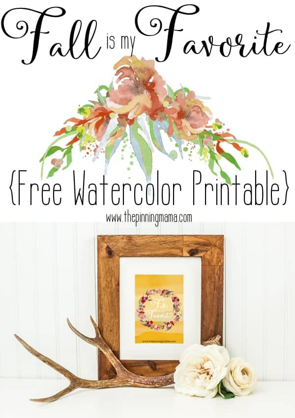 Watercolor Fall Decor - Free Printable.  Pinning so I can print this out!