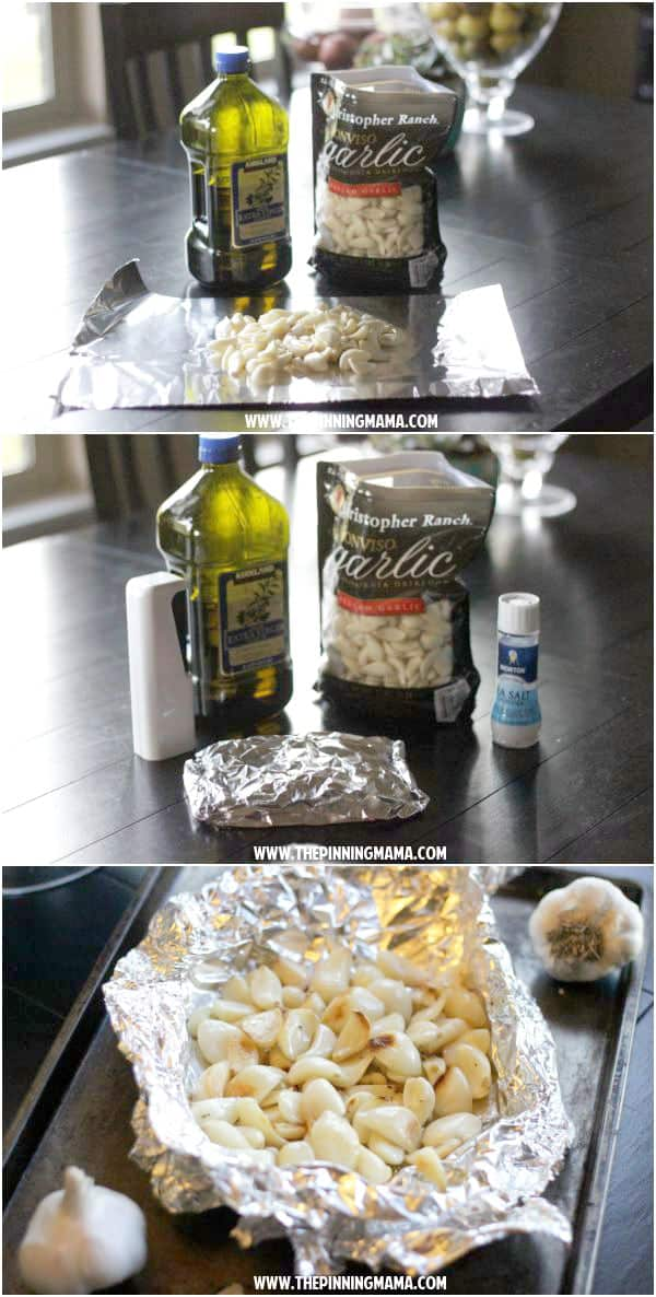 I never thought about making roasted garlic at home!  This recipe is so EASY!