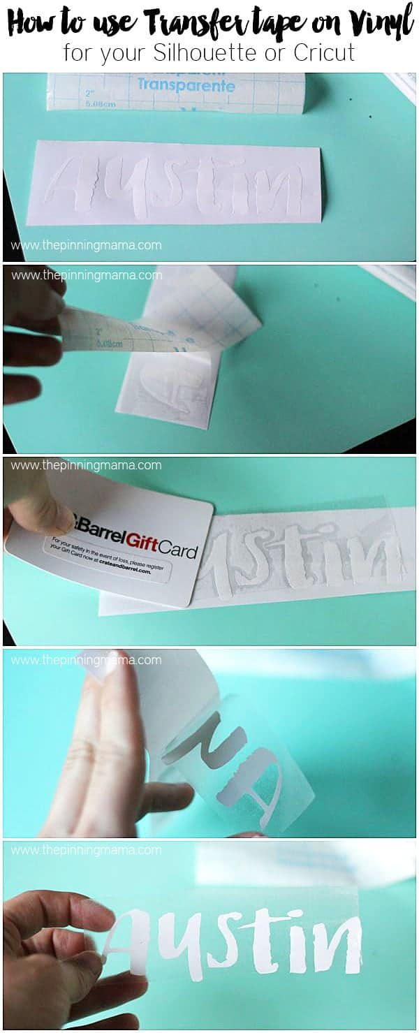 How To Use Transfer Paper With Vinyl The Pinning Mama - Vinyl cup care instructions
