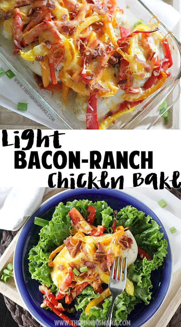 Light bacon ranch chicken bake the pinning mama a light version of the bacon ranch chicken bake pinned over 150000 times delicious one forumfinder Images