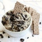 Creamy cheesecake and oreo cookies make this simple no bake cheesecake dip a great dessert recipe for parties.