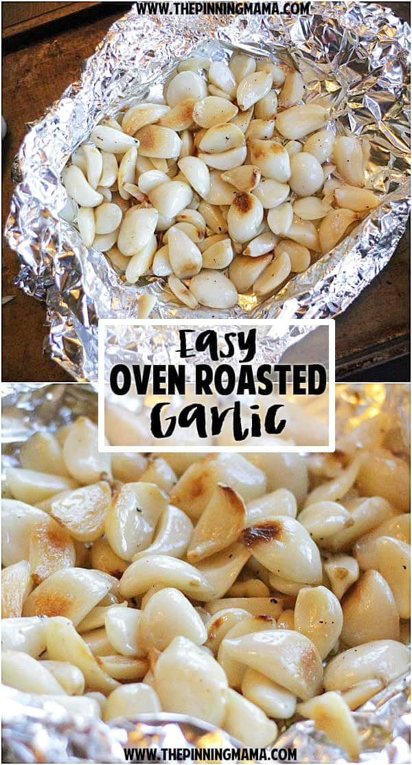 If you love garlic you NEED to read this.  Perfect roasted garlic with only 2 minutes of prep!