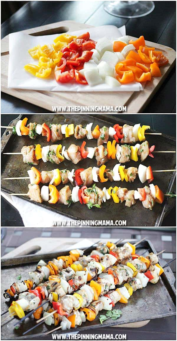 Fajita Kabob recipe for grilling! YES!