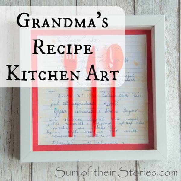 grandmas recipe kitchen art
