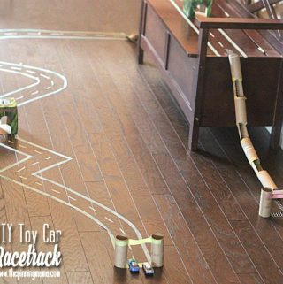 DIY Toy Car Race Track {Creative Play + Learn to Recycle!}