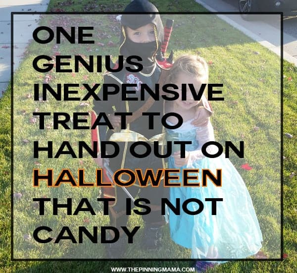 Genius!  What a great idea for something to hand out on Halloween other than candy. And it is actually affordable!