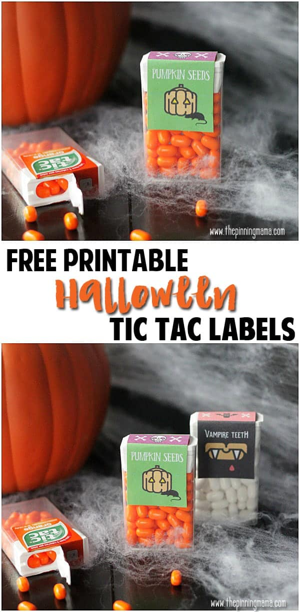 Pumpkin Seeds {Free Printable Tic Tac Label}  My kids will love to give these out at school!!