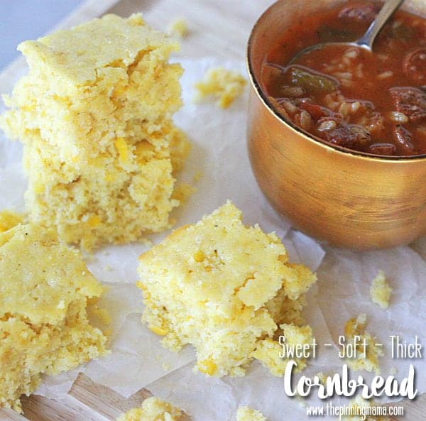 Soft & Thick Sweet Corn Bread Recipe