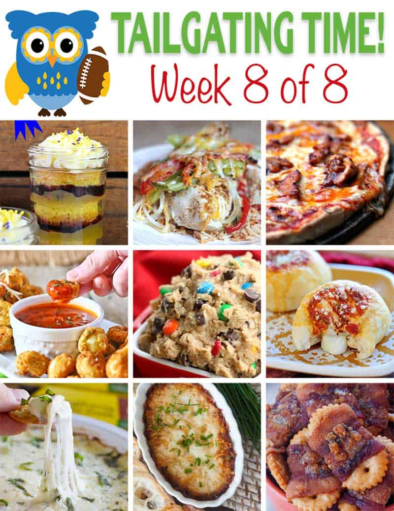 Tailgating Recipes for Football this Weekend! Appetizers, main dishes and desserts perfect for a football party!