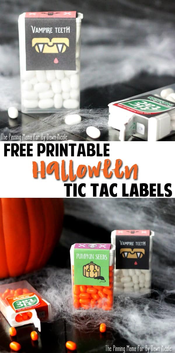 Vampire Teeth {Free Printable Tic Tac Label} My kids will love to give these out at school!!