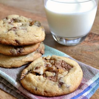 Thick and Chewy Candy Bar Cookies