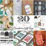 20 Free Printable Christmas Gift Tags