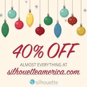 black friday 2015 silhouette portrait sale promo code pinning - Black Friday Christmas Decoration Deals