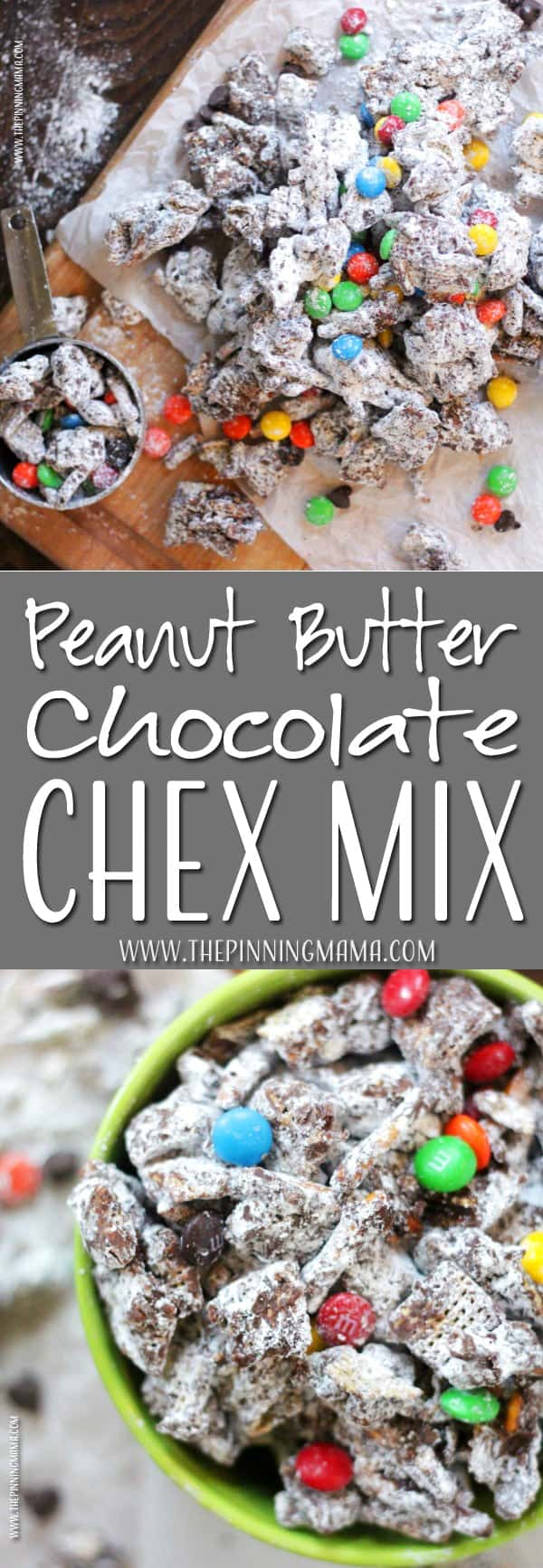 Chocolate and Peanut butter Chex Mix recipe?! Where have you been all my life!! YUM!