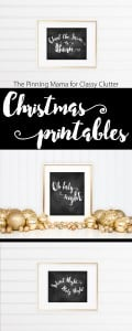 Free chalkboard printables for Christmas! Add it to your gallery wall, mantle or end table to add a bit of Holiday Cheer!