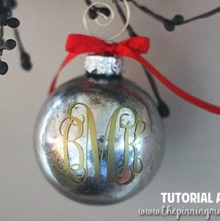 5 Minute DIY Mercury Glass Christmas Ornaments