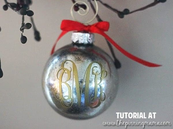 custom monogrammed christmas ornament idea make it yourself in about 5 minutes love this - Glass Christmas Bulbs For Decorating