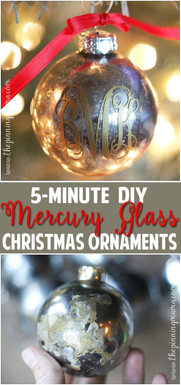 the best step by step tutorial on how to get a mercury glass finish the - Mercury Glass Christmas Decorations