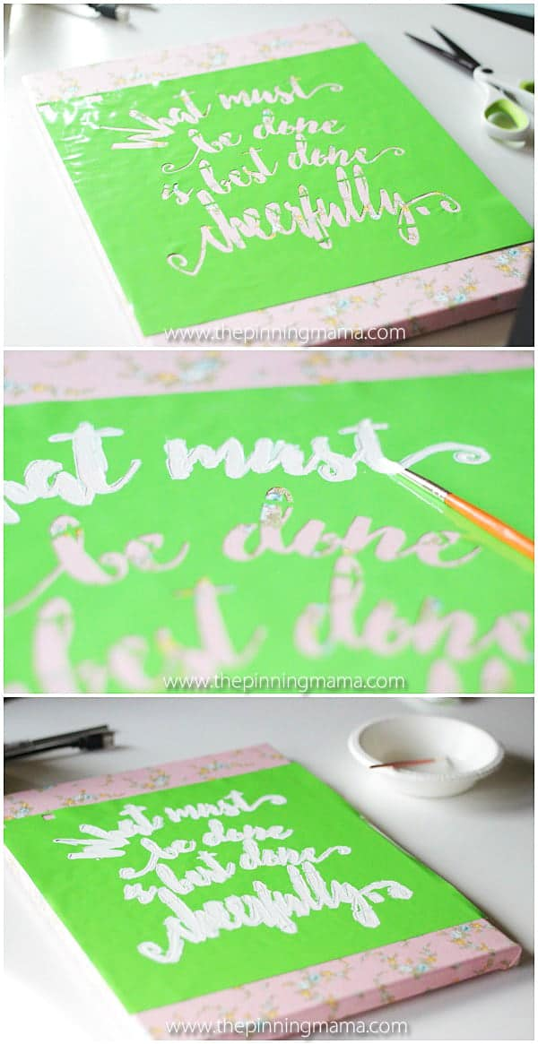 Perfect easy project for decorating any space!! Kids and teens could even do this craft project themselves!