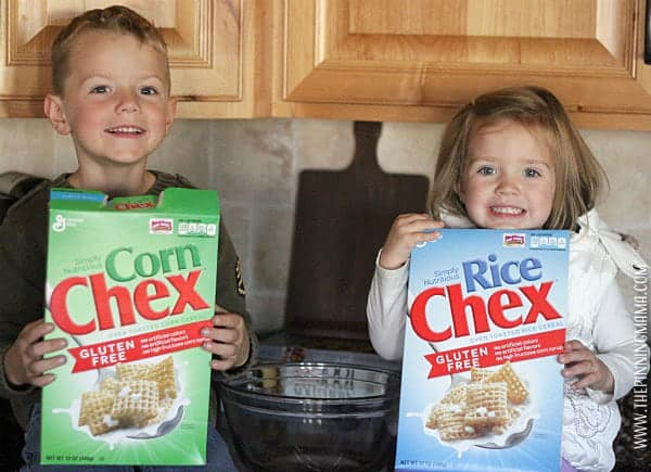 Ranch chex mix is made in the microwave so it is super simple for kids to help with every step!