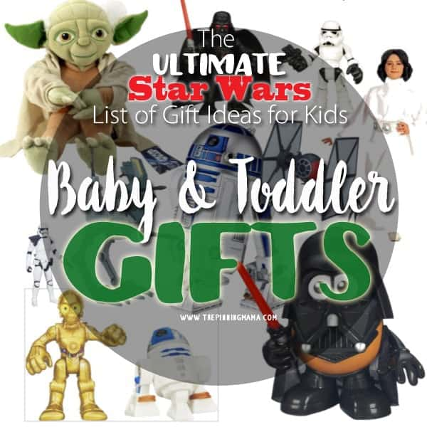 Oh my goodness!  How stinking cute is that?  A Darth Vader Mr Potato head!  This is the most fun list of baby gift ideas!