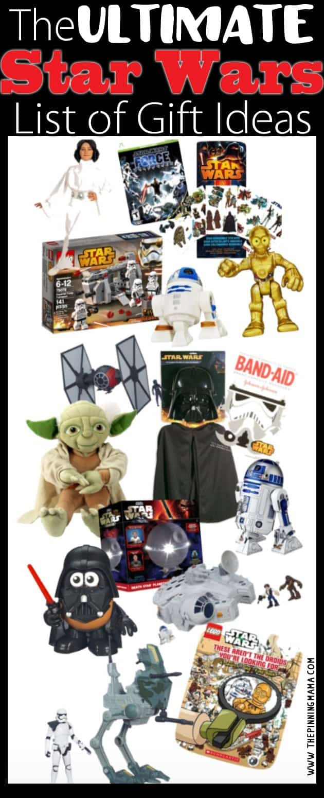 This list is amazing! If your kid loves Star Wars it has EVERY gift idea you would ever need! They even found educational Star Wars toys! Saving for reference!