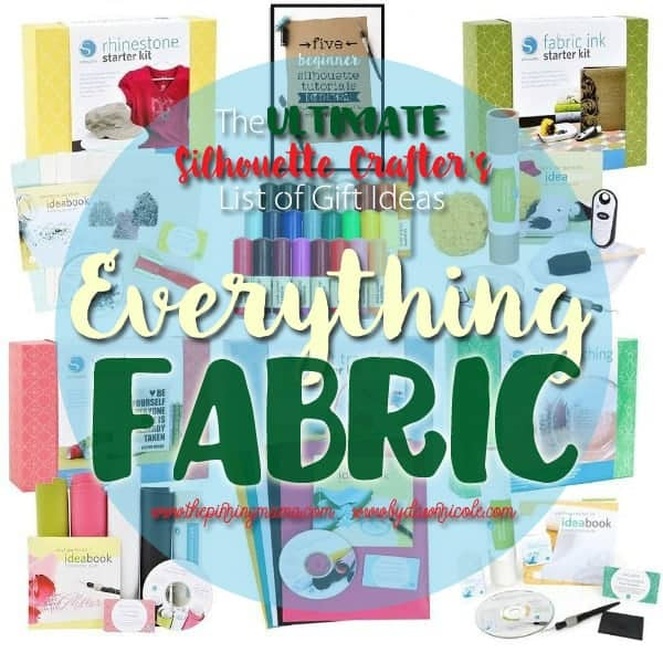 Everything you need to cut fabric and do monogram projects with your Silhouette CAMEO.  This is the best list I have seen!  Pinning to save for later.