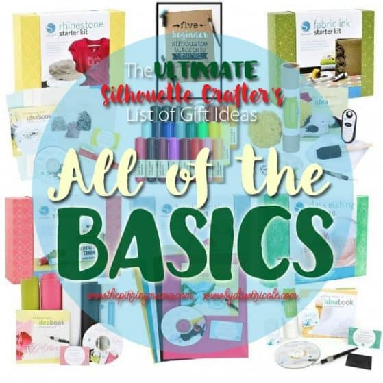 All of the basics you need to craft with your Silhouette Cameo. This list is AWESOME! Saving for reference!
