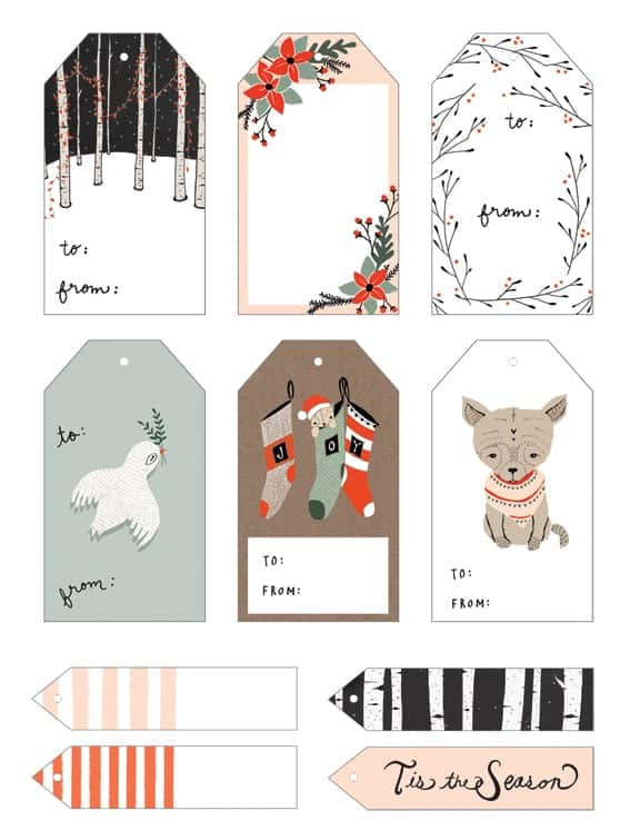 20 Free Printable Christmas Gift Tags | The Pinning Mama