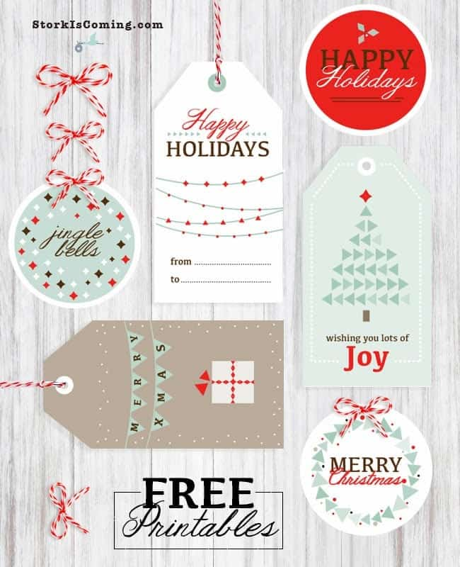 image regarding Free Printable Gift Tags Christmas referred to as 20 Totally free Printable Xmas Reward Tags The Pinning Mama