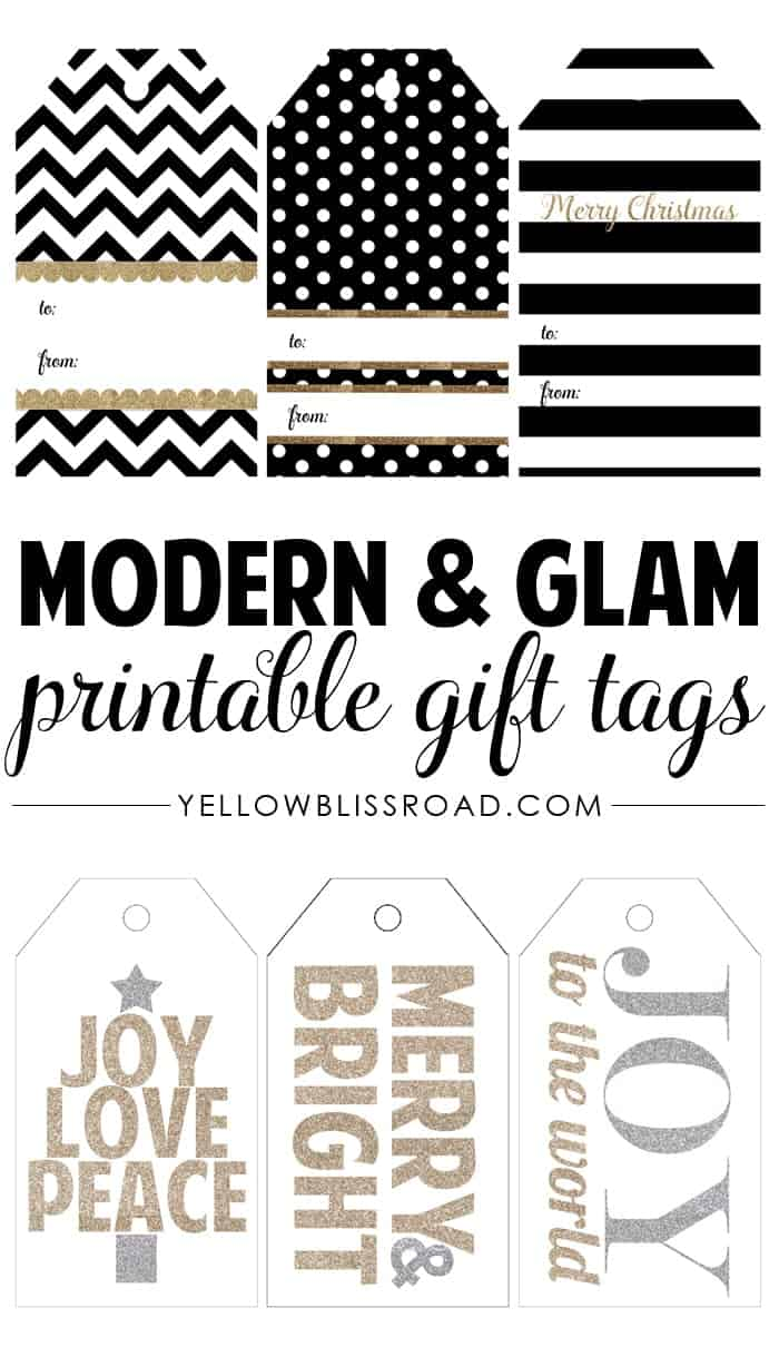 photograph about Printable Christmas Tags Black and White known as 20 Totally free Printable Xmas Reward Tags The Pinning Mama