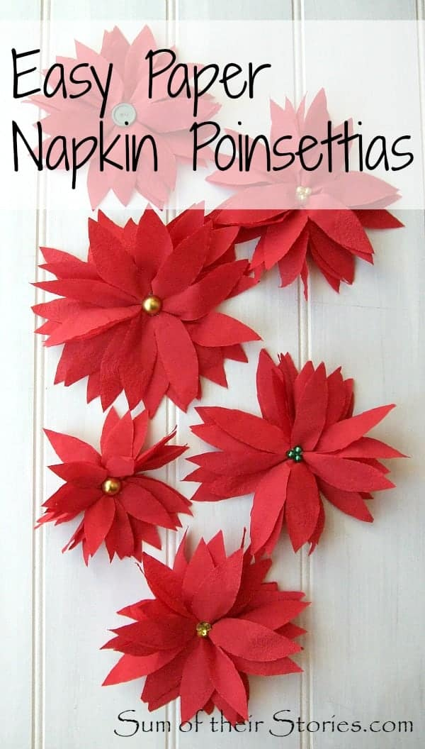 Easy paper napkin poinsettia the pinning mama easy paper napkin poinsettia mightylinksfo