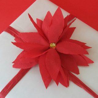 Easy Paper Napkin Poinsettia