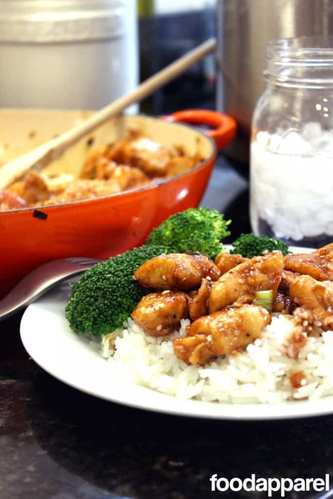 Sesame Chicken over Rice
