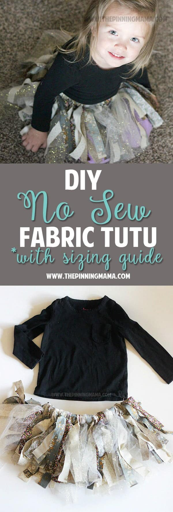 DIY No Sew Fabric Tutu Dress