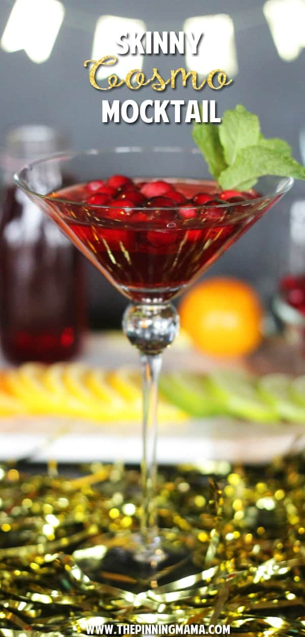 Skinny Cosmopolitan Mocktail recipe - Who knew it was so easy to make such a beautiful drink!!