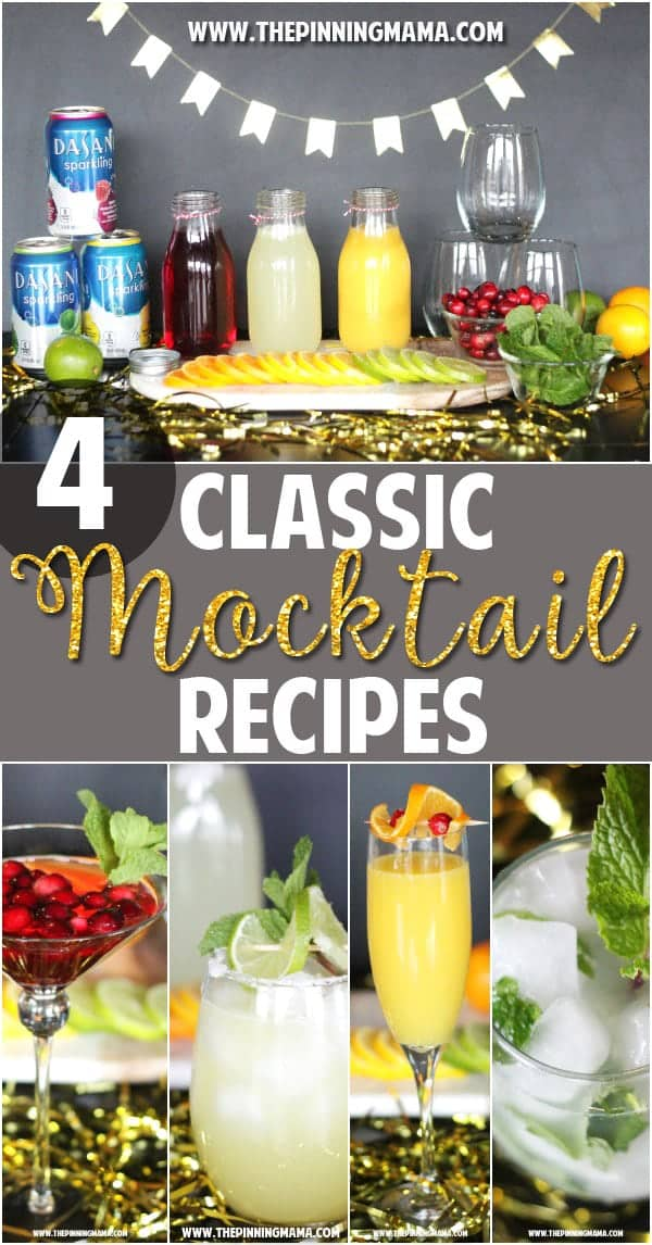 4 classic cocktails turned mocktails - The super simple virgin drink recipes will be a hit at any party.