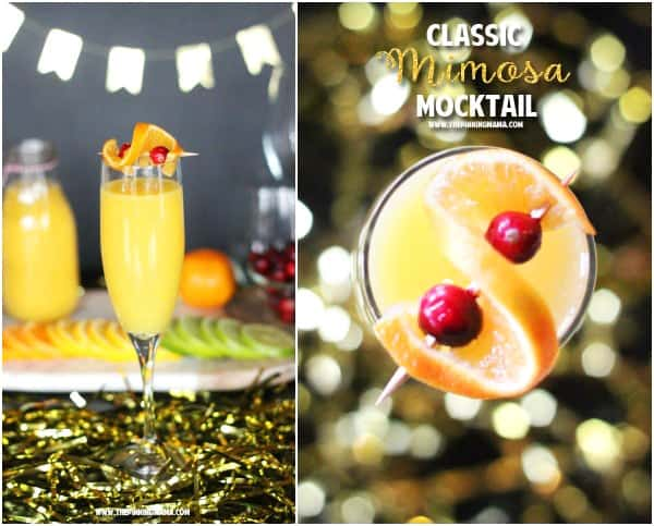 Save some calories and enjoy a lovely flavored filled drink with your brunch with this Skinny Mimosa Mocktail recipe! It has all the delicious flavor of a classic Mimosa but this non-alcoholic version is lighter and healthy.