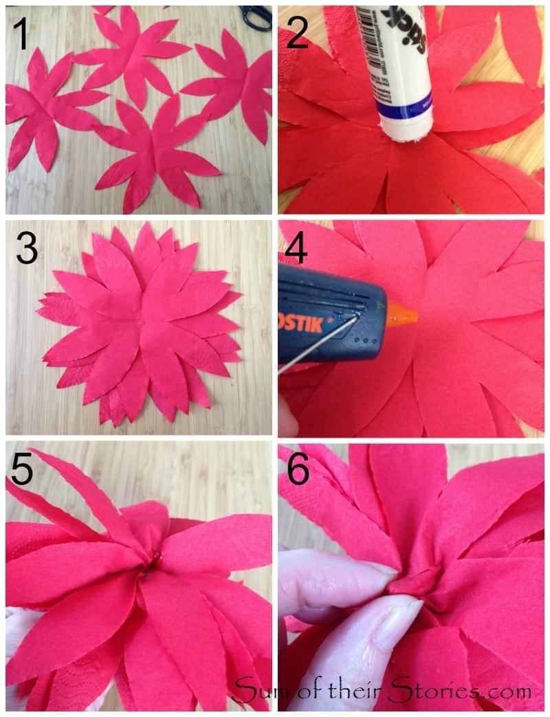 Easy Paper Napkin Poinsettia The Pinning Mama