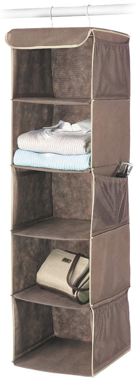 Organize a Closet: Hanging Accessory Shelves