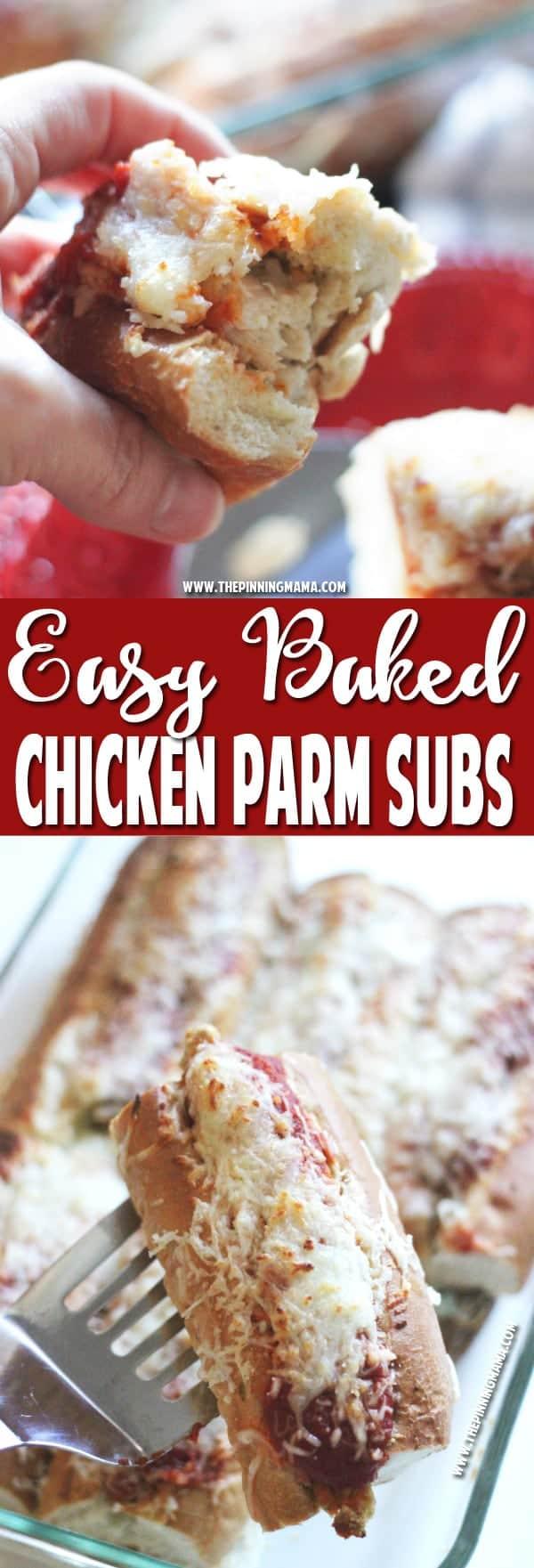 Baked Chicken Parmesan Sandwich recipe 5w