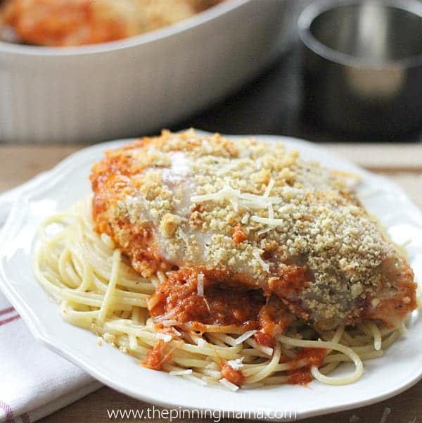 Easy chicken parmesan bake recipe the pinning mama easy chicken parmesan bake recipe forumfinder Choice Image