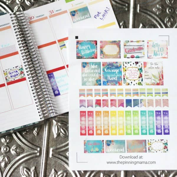 photo about Free Printable Stickers for Planners identified as Free of charge Printable Planner Stickers The Pinning Mama