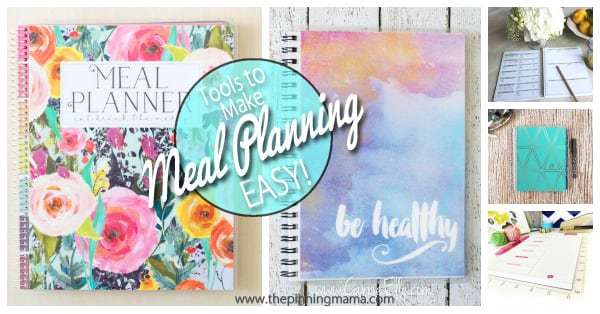 A great list of different types of planners for meal planning. Having the right tools really does make it easy to stay organized!