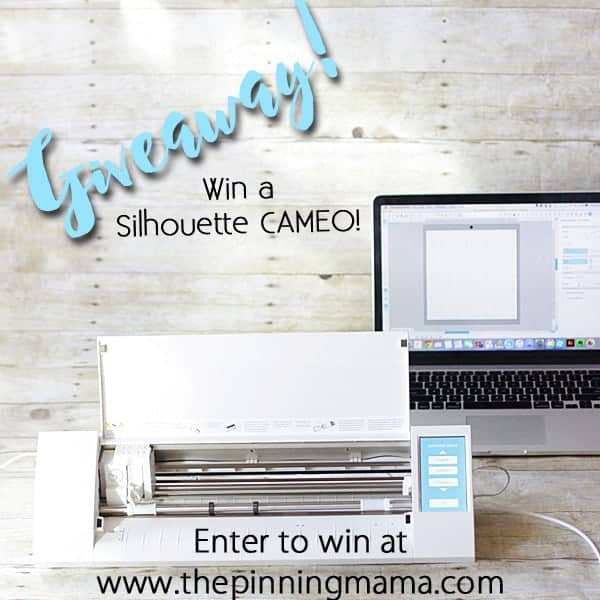 Silhouette CAMEO GIVEAWAY!!! Enter to win at www.thepinningmama.com