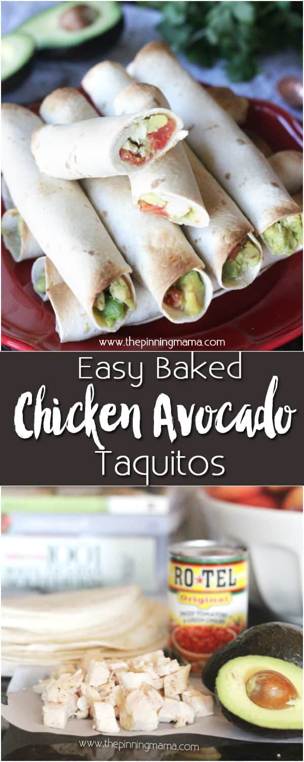 Holy YUM! Chicken Avocado Lime Taquitos. I didn't know taquitos were so easy to make but you can whip up a whole batch in just a few minutes in the oven and they are SO DELICIOUS! Dip these in ranch and WOW! It is the perfect light meal or heavy appetizer for a party!
