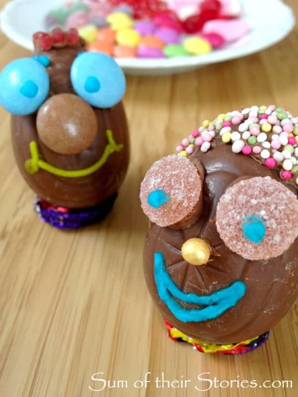 fun faces easter eggs