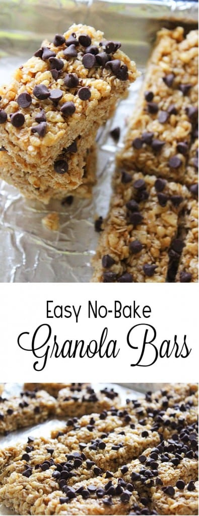 Easy No-Bake Granola Bars that your kids will devour!